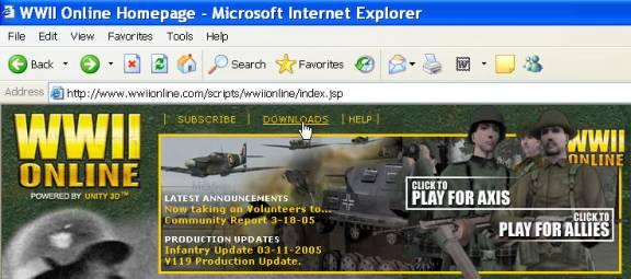 Setting Up World War II Online